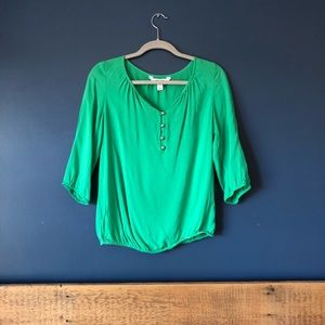 Green Old Navy Blouse.